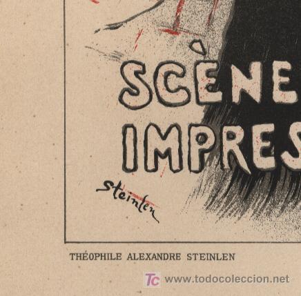 Arte: STEINLEN – Litografía 1897 - MOTHU ET DORIA - Foto 2 - 27225593