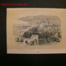 Arte: MÁLAGA. VISTA GENERAL. LITOGRAFÍA. S.XIX.. Lote 19178043