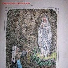 Arte: NUESTRA SRA.DE LOURDES. LITOGRAFÍA.. Lote 26884682
