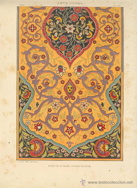 Uxg Cromolitografia C 1890 J Aleu Arte Persa Comprar