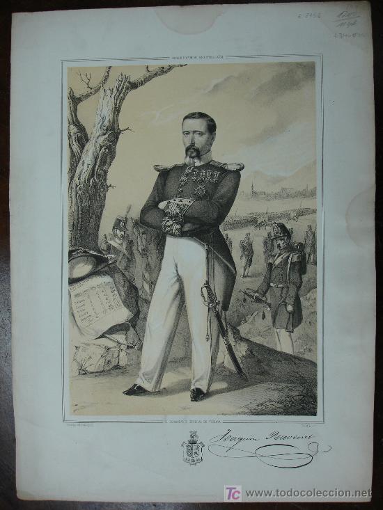 MILITAR. EL COMANDANTE GENERAL DE VIZCAYA. ESTADO MAYOR DEL EJÉRCITO ESPAÑOL. LITOGRAFÍA.45 X 32 CM. (Arte - Litografías)