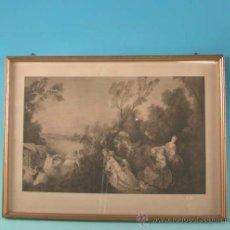 Arte: LITOGRAFÍA EN BLANCO Y NEGRO. 1920. ESCENA ROCOCÓ ¿FRAGONARD?. 45 X 33 CM. Lote 12541848