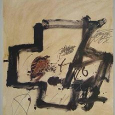 Arte: ANTONI TÀPIES / COMPOSICIÓN CROMOLITOGRAFÍA CUTRICOMÍA 1984. Lote 26468618