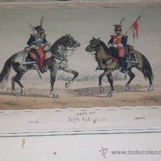 Arte: LITOGRAFIA XIX GUARDIA REAL 1824 ( VILLEGAS). Lote 26972103