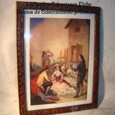Arte: ANTIGUO CUADRITO, LITOGRAFIA, ENMARCADO. . Lote 15095528