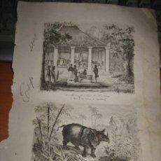 Arte: GRABADO O LITOGRAFIA DEL LIBRO VIAJE PINTORESCO ALREDEDOR DEL MUNDO. Lote 15206960