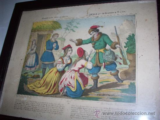 LITOGRAFIA FRANCESA SIGLO XIX.ELISABETH EN SIBERIA LITH.POR FR.WENTZEL A WISSEMBOURG (Arte - Litografías)
