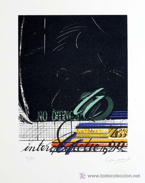 JAUME GENOVART / NIGHT SKY II. LITOGRAFÍA ORIGINAL FIRMADA A LÁPIZ, NUMERADA. EDICIÓN 80 EJEMPLARES (Arte - Litografías)