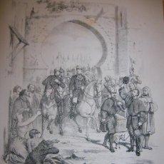 Arte: CARLISMO. BATALLA DE VAD - RAS. LITOGRAFÍA S.XIX.. Lote 15846531