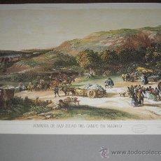 Arte: LITOGRAFIA ROMERIA DE SAN ISIDRO DEL CAMPO EN MADRID - 24,50 X 19 CM.. Lote 26209893