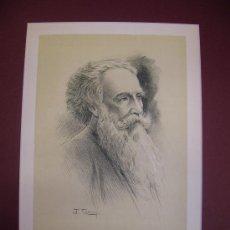 Arte: RETRATO MASCULINO. LITOGRAFÍA. S.XIX.. Lote 17495991