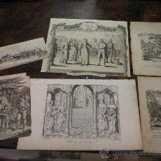 Arte: LOTE DE 5 GRABADOS AL COBRE Y UNA LITOGRAFÍA, DE DIFERENTE TEMÁTICA, S. XVIII-XIX. Lote 17880035