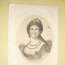 Arte: 1870 LITOGRAFIA DE LA REINA MARIA LUISA ESPOSA DE CARLOS IV. Lote 26524249