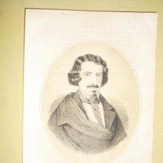 Arte: 1870 LITOGRAFIA DE ESPRONCEDA. Lote 24171762