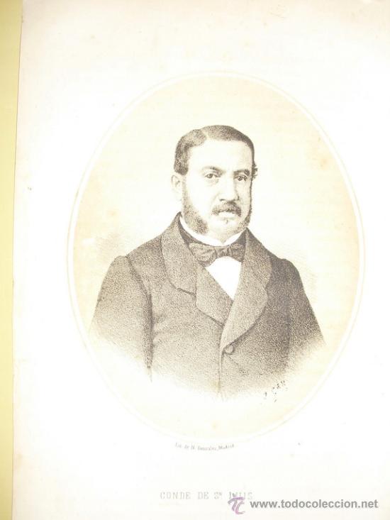 1870 LITOGRAFIA DEL CONDE DE SAN LUIS (Arte - Litografías)