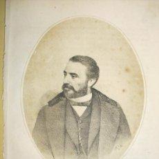 Arte: 1870 LITOGRAFIA DE SAGASTA. Lote 27580118