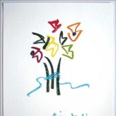 Arte: PABLO PICASSO / FLORES . LITOGRAFÍA OFFSET FIRMADA EN LA PLANCHA.. Lote 26754983