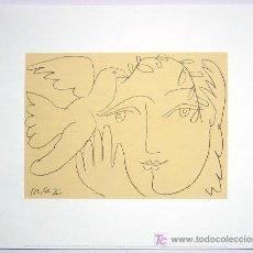 Arte: PABLO PICASSO EL ROSTRO DE LA PAZ LITOGRAFÍA FECHADA EN PLANCHA 5.12.50 X 1950 PAPEL VELIN ARCHES. Lote 27106766