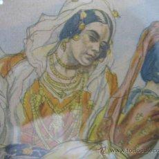 Arte: LITOGRAFÍA DE C. S. DE TEJADA. ESCENA CHARROS. AÑOS 40.. Lote 18458772