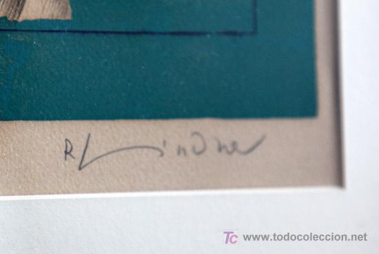 Arte: Richard Lindner . MARAVILLOSA LITOGRAFÍA titulada How it Began . A/P Firmada a lápiz . Enmarcado! - Foto 6 - 27472749