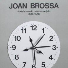 Arte: JOAN BROSSA / POESÍA VISUAL Y POEMAS OBJECTO. CARTEL EXPOSICIÓN GALERÍA LA MÁQUINA,MADRID,1988. Lote 40489558
