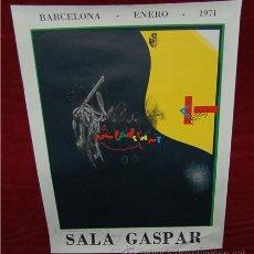 Arte: CARTEL LITOGRAFICO DE LA EXPOSICION DE VILADECANS A SALA GASPART. BARCELONA. ENERO 1971. FIRMADO!. Lote 27588072