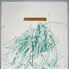 Arte: ANTONI TAPIES . LITOGRAFIA ORIGINAL FIRMADA. POEMS FROM CATALAN . 1973 . EDICIÓN DE 75 EJEMPLARES. Lote 27049583