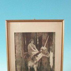 Arte: LITOGRAFÍA, ESCENA MITOLÓGICA, ART NOUVEAU, ALEMANIA 1900 - 1910. Lote 19680970