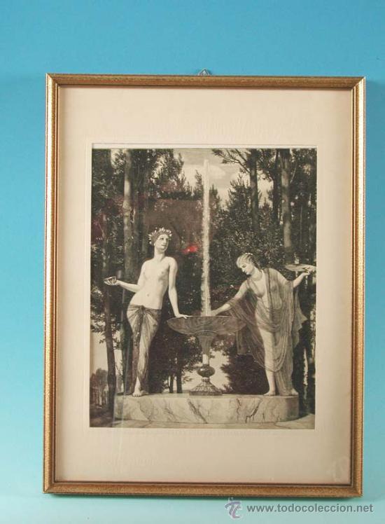 LITOGRAFÍA, ESCENA MITOLÓGICA, ART NOUVEAU, ALEMANIA 1900 - 1910 (Arte - Litografías)