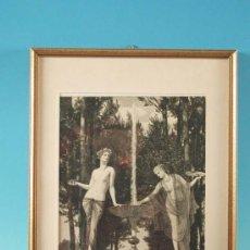 Arte: LITOGRAFÍA, ESCENA MITOLÓGICA, ART NOUVEAU, ALEMANIA 1900 - 1910. Lote 19681062