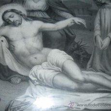 Arte: VIRGEN DE LAS ANGUSTIAS, LITOGRABADO ENMARCADO PP.SG.XIX. 1860-1870, MARCO MADERA NOBLE. Lote 22417875
