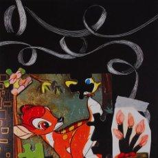 Arte: CARLOS PAZOS BAMBI LITOGRAFÍA ORIGINAL FIRMADA Y NUMERADA A MANO EDICIÓN 99 EJEMPL ED LA POLÍGRAFA. Lote 29379448