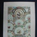 Arte: LITOGRAFÍA. DECORACIÓN. PLATOS CERÁMICA SIGLO XVIII. (LITH. PAR LAUNAY). 40 X 27 CM. . Lote 23433745