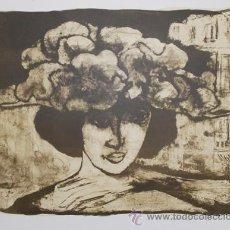 Arte: HILDA CASTELLON / MUJER CON SOMBRERO. LITOGRAFÍA FIRMADA Y NUMERADA 16 / 50 A LÁPIZ.* FEDERICO CASTE. Lote 50344996