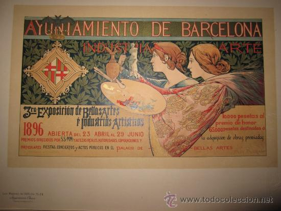 Alexander De Riquer Litografia Modernista Ayunt Sold Through Direct Sale 26811731