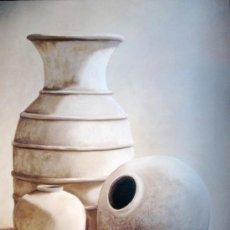 Arte: TRES VASIJAS. LÁMINA LITOGRAFIADA. Lote 25665091