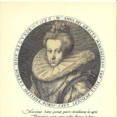 Arte: LAMINA DE ANA AUSTRIA, MUJER DE FELIPE II. Lote 27224542