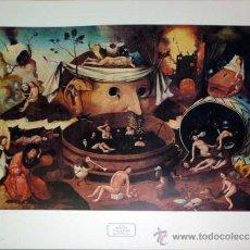 Arte: LÁMINA LITOGRAFÍA ARTÍSTICA DE EL BOSCO. Lote 26533605