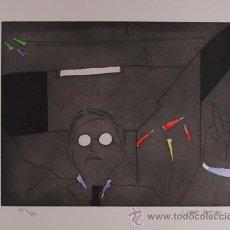 Arte: GARDY ARTIGAS / PINTOR CIEGO . LITOGRAFÍA FIRMADA Y NUMERADA A LÁPIZ EDICIÓN 75 EJEMPLARES. Lote 31963359