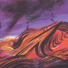 Arte: GENOVART / EL VOLCÁN ROJO. LITOGRAFÍA ORIGINAL FIRMADA Y NUMERADA 34 / 100 A LÁPIZ. Lote 27503563