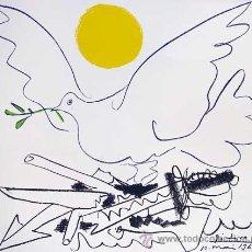 Arte: PABLO PICASSO / MUNDO SIN ARMAS LITOGRAFÍA FIRMADA Y FECHADA EN PLANCHA EDITIONS COMBAT POUR LA PAIX. Lote 31579849