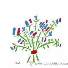 Arte: PABLO PICASSO / RAMILLETE DE FLORES. LITOGRAFÍA FIRMADA EN LA PLANCHA. ED. MOURLOT, PARÍS.. Lote 26372480