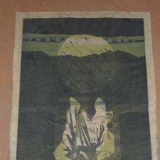 Arte: EDUARDO SANZ. FIRMADO Y FECHADO EN 1960. NUMERADA 1/2. LITOGRAFIA ESTAMPADA SOBRE TELA??. Lote 26548573
