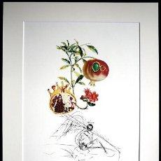 Arte: DALÍ / FLOR, GRANADO Y ÁNGEL. LITOGRAFÍA EDICIÓN LIMITADA. TAMAÑO 50 X 65 CM.. Lote 26555549