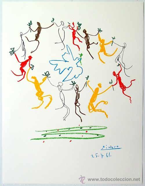 PICASSO RONDE DE LA JEUNESSE FIRMADA FECHADA PLANCHA PAPEL ARCHES REFERENC CATÁLOGO BLOCH KORNFELD (Arte - Litografías)