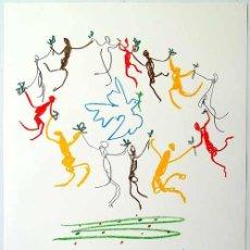 Arte: PICASSO RONDE DE LA JEUNESSE FIRMADA FECHADA PLANCHA PAPEL ARCHES REFERENC CATÁLOGO BLOCH KORNFELD. Lote 26734302