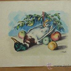 Arte: RAMON RIBAS RIUS. LITOGRAFIA ORIGINAL FIRMADA A PLANCHA. BODEGON. Lote 27006492