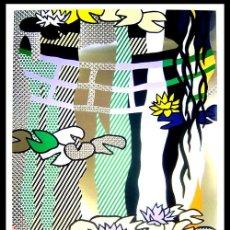 Arte: / NENÚFARES EN JARDÍN JAPONÉS. LITOGRAFÍA GRAN TAMAÑO: 54 X 84 CM. Lote 27204834