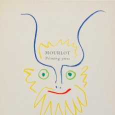 Arte: PABLO PICASSO / FAUNO CROMOLITOGRAFÍA PRINTING PRESS MOURLOT 1964 MONTADA EN PASSPARTOUT. Lote 28490798