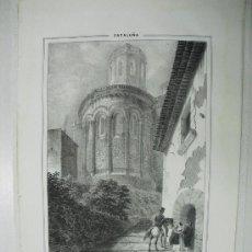 Arte: 1847 APSIDE (SIC) DE LA PARROQUIA DE SAN MARTIN ZARROCA F.J.PARCERISA. Lote 29066247